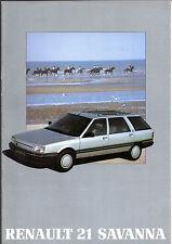 Renault 21 Savanna 1988-89 UK Market Sales Brochure TS TD GTS GTD GTX