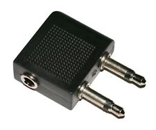 Airplane Headphone / Earphone Adapter - 3.5mm Mono Jack Plug to 3.5mm stereo