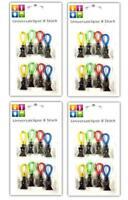 32 Stück Universalclips | Beutelclips | Büroklammer Notizhalter Verschlussclips