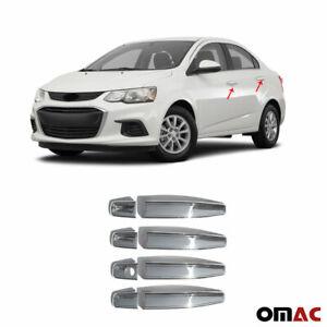 For Chevrolet Sonic 2012-2021 Chrome Door Handle Cover Trim S.Steel 8 Pcs 4 Door