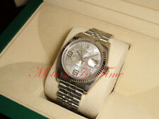 Rolex Datejust 36mm Stainless Steel Silver Floral Dial Jubilee Bracelet 116234