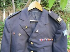 ISRAEL IDF THE NAVY - DRESS OFFICER M JACKET W/ RANKS,RIBBONS,BADGES  ! AUTH.OLD