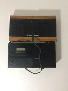 Vintage Clock Alarm Radio EPM-80 Sound System