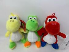 "Little Buddy Toys Nintendo Official Super Mario Yoshi Plush, 6""- 3 pcs"