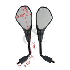 A Pair Black Rear View Mirror For APRILIA SL750 SHIVER DORSODURO 1200 MANA 850