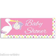 56 Cm Pink Girl De Cigueña Baby Shower Fiesta Plástico Pvc signo Banner Decoración