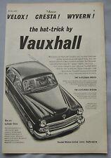 1955 Vauxhall Velox, Cresta & Wyvern Original advert No.1