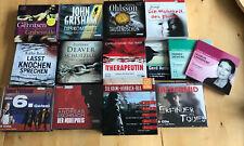 Hörbuch Paket/Hörbücher Sammlung 14 Stück Krimi&Thriller