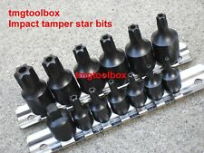 15 PC 1/4'' & 3/8' 'DR IMPACT TAMPER STAR BIT SET SD-10,15,20,25,27,30,40,45,47+