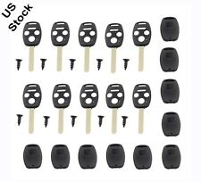 New 10Pcs Remote Key Fob Shell Case Uncut Blade Replacement For Honda N5F S0084A