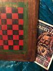 Vintage Antique Folk Art Checker Game Board