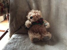 Kell Toy Inc Bear Curly Hair Ribbon Oatmeal 9 Inches 1990s