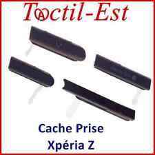 Cache Prise Couvercle LOT de 4 : SD+HDMI+USB+JACK pour SONY XPERIA Z L36h Violet