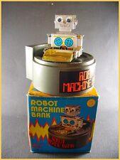"""ROBOT MACHINE BANQUE Wind-up """"Everlast Toys"""" + boite (clockwork antique toy)"""
