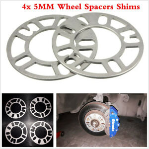 4pcs 5mm Universal Alloy Aluminum Wheel Spacers Shim Plate 4/5 Stud Fit WS-100
