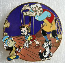 Pinocchio Geppetto Figaro Jiminy Cricket 2.25 in Fantasy Tales Pin Le 50