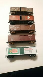 Walthers/etc HO Train Lot of 5 Kit Built Rolling Stock Freight Cars RTR Lot 2