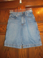 "Cherokee Blue Denim Carpenter Shorts Boys Size 8 - 24"" Adjustable Elastic Waist"