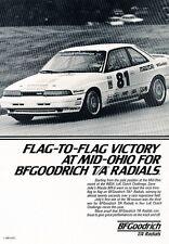 1989 Mazda Mx-6 IMSA Race Original Advertisement Print Car Ad J528