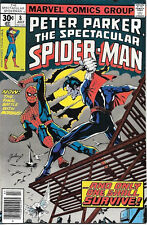 The Spectacular Spider-Man Comic Book #8 Morbius, Marvel Comics 1977 NEAR MINT