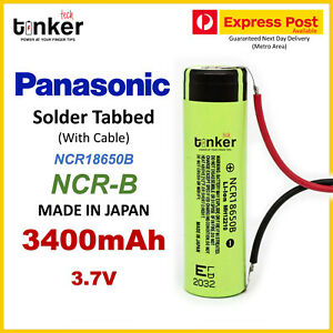 Panasonic NCR 18650B 3400mAh SOLDER TABBED with Cable Wire 3.7v For DIY Project