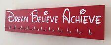 Dream Believe Achieve - Runner / Sports Medal Hanger / Holder Display
