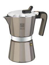 Cafetera Bra TITANIUM 3 Tazas aluminio' asa y pomo termo resistente y silicona