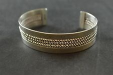 w Rope Inlay - 23g Sandoval Sterling Silver Wide Cuff Bracelet