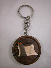 Closeout Dog Key Chain - Key Holder Real Wood for Dog Lover Pekingese #Z004
