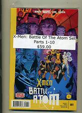 X-MEN  BATTLE OF THE ATOM SET Parts 1-10