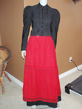 Early 1900 Vintage Edwardian Three Piece Dress Cotton with Gloves