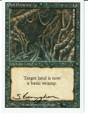 MAGIC THE GATHERING REVISED EVIL PRESENCE SIGNED BY SANDRA EVERINGHAM