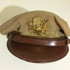 Original WWII US AAC Summer Weight Bancroft Flighter 50 Mission Crusher Hat