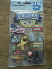 PAPER HOUSE MILITARY LIFE 3D STICKERS BNIP *NEW*