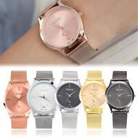 Fashion Women Ladies Stainless Steel Mesh Band Analog Quartz Dress Wrist Watch