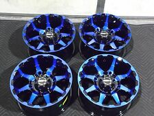 "14"" STI HD6 BLUE ATV WHEELS SET 4  LIFETIME WARRANTY POLARIS RZR XP1000 GP10K"