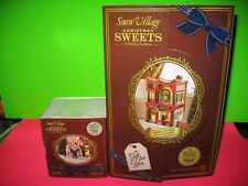 Dept 56 Snow Village Christmas Sweets Building 4054972 New & ACCESSORY 4054975