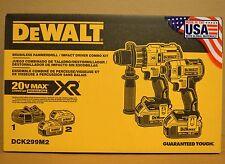 DeWALT DCK299M2 (DCD996 Hammer Drill + DCF887 Impact Driver + 2 DCB204 + DCB115)