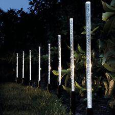8pcs Solar Power Acrylic Bubble LED Light Garden Lawn Landscape Lamp Decor White