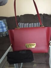"NWT Elegant Zac Posen Satchel Bag/""Eartha"" Burgundy Purse Merlot Retail $495"