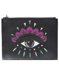 Borsa Pochette Kenzo Bag EYE CLUTCH Donna Nero F852SA607L22 99A Tg. U