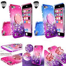 IPod 5/6/7 Th Generation Liquid Brillo Touch teléfono caso cubierta con vidrio templado