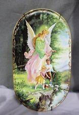 Annaburg Decorative Wall Plate, Pink Guardian Angel. Free Shipping!