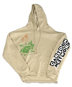 Cartoon Network Mens Small S Ed Edd Eddy Billy Mandy Biege Hoodie Pullover NWOT