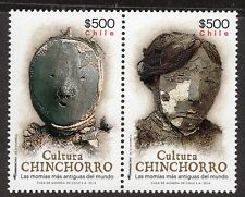 CHILE 2014 STAMP # 2523/4 MNH ARCHAEOLOGY CULTURA CHINCHORRO MUMMY