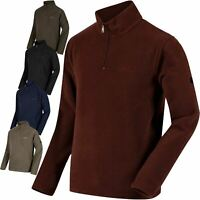 Mens Regatta Textured Lightweight Micro Half Zip Fleece Top Jacket Sizes S-4XL