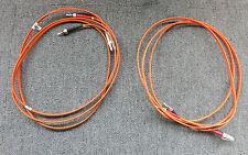 2 x LC To ST 50/125 Duplex Multimode Fibre Optic 2M Cable Orange