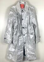 Isaac Mizrahi Target Women's Silver Foil Coat XXL