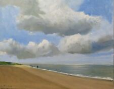 "ORIGINAL MALCOLM LUDVIGSEN ""Winterton Beach, Norfolk"" Coast PAINTING"