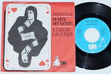 "JONATHAN KING -Mary, My Love- 7"" 45"